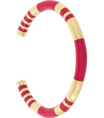 aurelie bidermann pivoine resin inlay positano bracelet - metallic