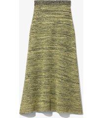 proenza schouler white label cotton silk pique knit skirt paleyellow l