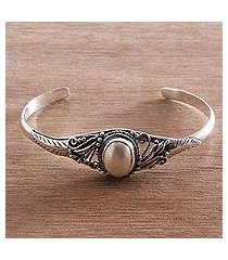 cultured pearl cuff bracelet, 'moonlight shade' (indonesia)