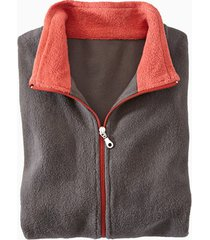 fleece jas, antraciet/roest xl