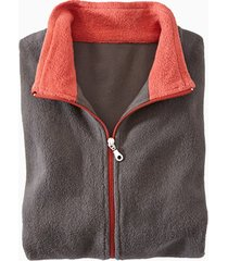 fleece jas, antraciet/roest m