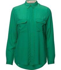 athalie blouse lange mouwen groen custommade