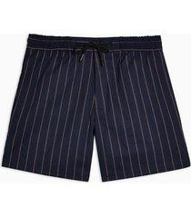 mens navy and burgundy stripe shorts
