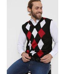sweater negro moni tricot rombos