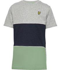 wide multi stripe t-shirt navy blazer t-shirts short-sleeved blå lyle & scott junior