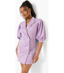 blazer jurk met extreme pofmouwen, lilac