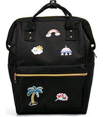 mochilas/ mochila de bordado moda mariposa mujeres-negro