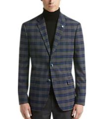 ben sherman gray plaid extreme slim fit sport coat