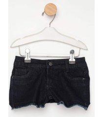 shorts jeans express lolla preto - preto - menina - dafiti