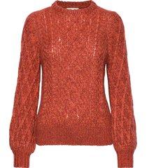 multicolored knit gebreide trui oranje maud