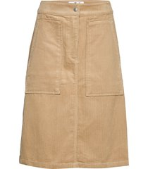 corduroy carpenter s knälång kjol beige calvin klein jeans