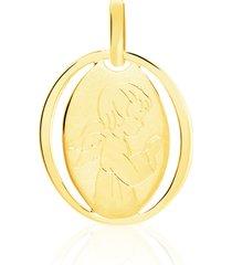 ciondolo angelo in oro giallo per unisex