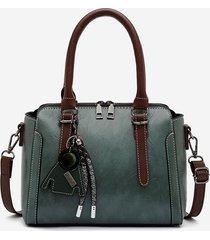 retro pendant rectangle pu handbag