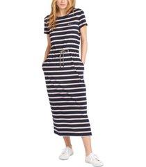barbour striped bayside drawcord-waist midi dress