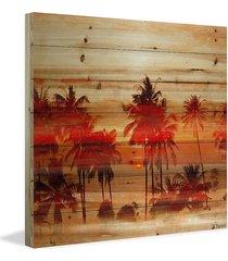 "parvez taj crimson palms print - size 24"" x 24"""