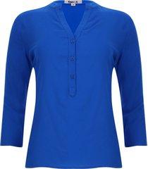 blusa unicolor color azul, talla xs