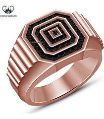 1.25ct diamond 14k rose gold 925 silver wedding engagement band ring for men's