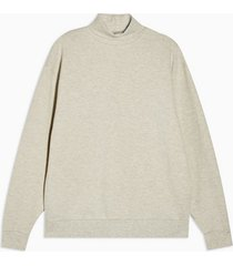 mens cream ecru roll neck sweatshirt