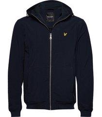 softshell jacket hoodie trui blauw lyle & scott