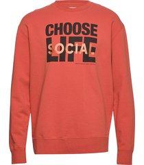 lou sweatshirt sweat-shirt trui oranje wood wood
