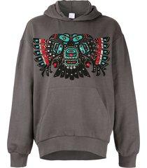 alchemist wayne beaded hoodie - grey