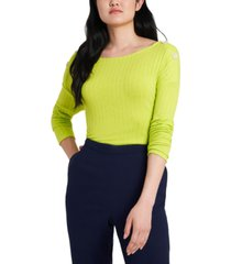 riley & rae callie ribbed button-detail top, created for macy's