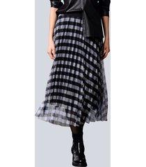 rok alba moda zwart::offwhite