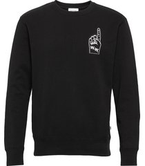 hugh sweatshirt sweat-shirt trui zwart wood wood
