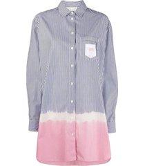 palm angels vertical-stripe shirt dress