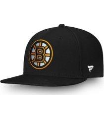 authentic nhl headwear boston bruins basic fan snapback cap