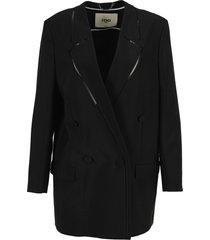 fendi black mohair jacket