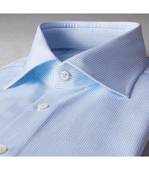 stenströms heren overhemd lichtblauw fijn gestreept cutaway ml7 slimline
