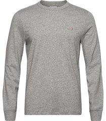 worth ls tee t-shirts long-sleeved grå farah