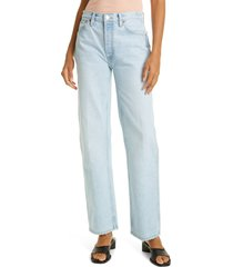 women's re/done '90s high rise loose fit jeans, size 27 - blue