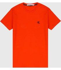 camiseta naranja-negro calvin klein