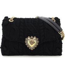 dolce & gabbana devotion braided shoulder bag
