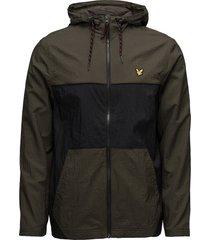 full zip windbreaker hood outerwear sport jackets grön lyle & scott sport