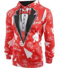 christmas baubles snowflakes printed casual hoodie