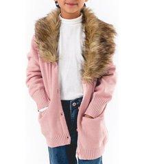abrigo elegant casual rosa going merry