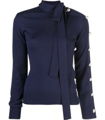 monse neck tie deconstructed jumper - blue