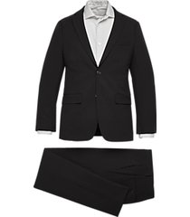 calvin klein skinny fit suit black