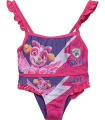 swimsuit baddräkt badkläder rosa paw patrol