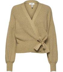 objviolette l/s knit cardigan 113 stickad tröja cardigan brun object