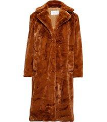 vikoda faux fur coat outerwear faux fur brun vila