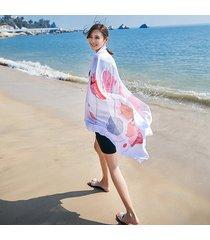 uacy 180cm * 90cm stampa sciarpa da spiaggia summer sun sciarpa sunscreen capelli