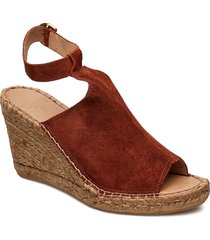 wayfarer high wedge sandalette med klack espadrilles orange royal republiq