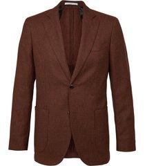 profuomo jacket woven hopsack rust