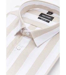 koszula versone 5011a długi rękaw slim fit beż