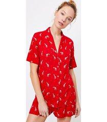 loft giraffe heart pajama top