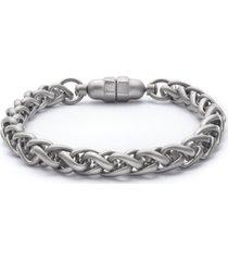 kenneth cole reaction men's silver-tone link bracelet